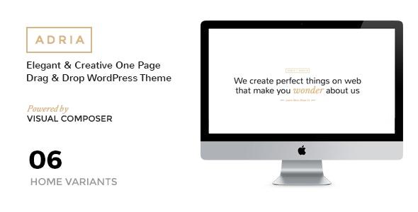 ADRIA - Minimal One Page Parallax WordPress Theme - Portfolio Creative