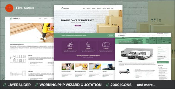Removals - Moving Site template
