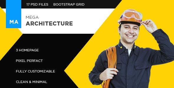 Mega Architecture - PSD Template - Business Corporate