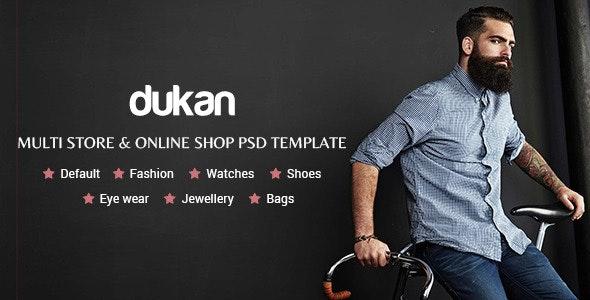 Dukan - Multi Store & Online Shop PSD Template - Retail Photoshop