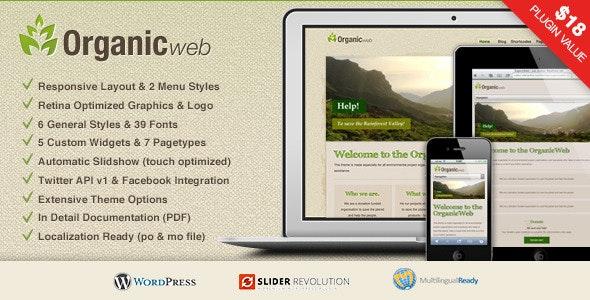 Organic Web - Environmental WordPress Theme - Environmental Nonprofit