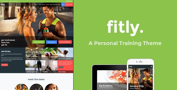 Fitly - A Personal Training WordPress Theme - Health & Beauty Retail