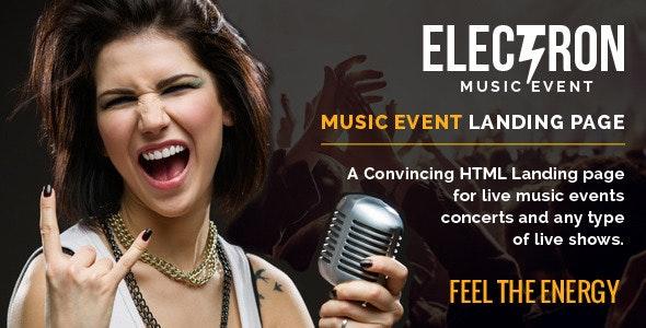Electron Music Event Landing Page - Events Entertainment