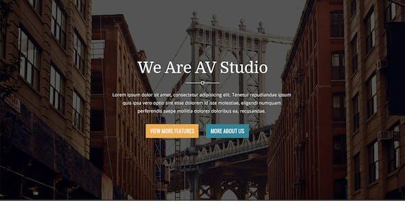 AV Studio - One Page WordPress Theme