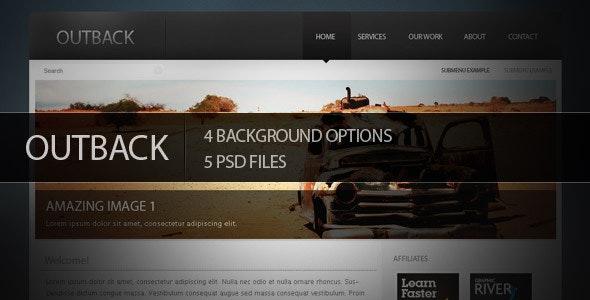 Outback Psd Theme - Creative Photoshop