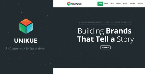 Unikue - One Page Joomla Template - Creative Joomla