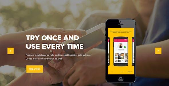 Omni - onepage app template