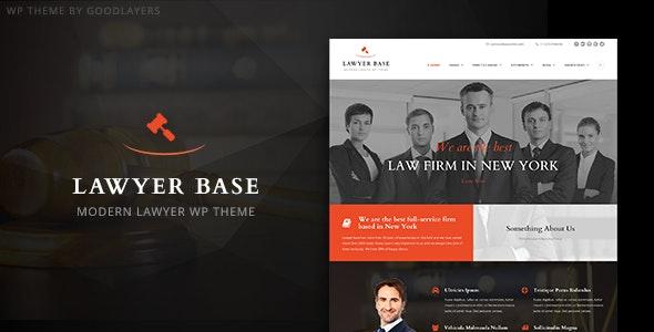 Lawyer Base - Attorney WordPress - Business Corporate