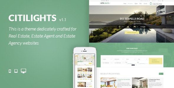 CitiLights - Real Estate PSD Template - Business Corporate