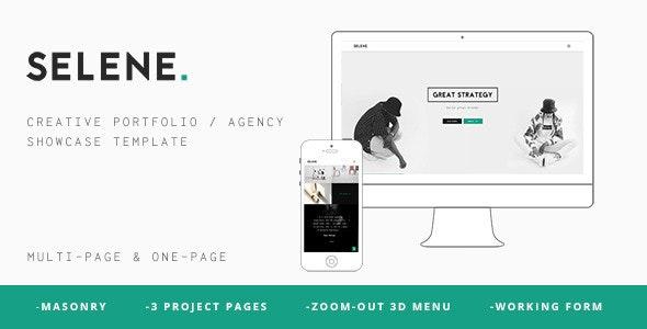 Selene - Creative Portfolio / Agency Template - Portfolio Creative