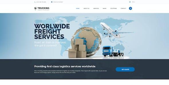Trucking Transportation and Logistics PSD Template