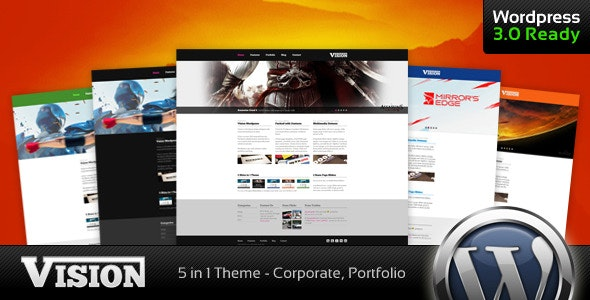 Vision - Corporate and Portfolio WP Theme - Business Corporate