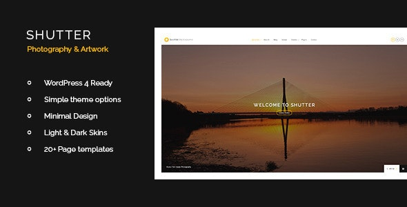 Shutter - Photography & Art WordPress Theme - Photography Creative