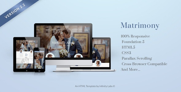 Matrimony - Responsive One Page Wedding Template - Wedding Site Templates