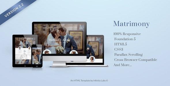 Matrimony - Responsive One Page Wedding Template - Wedding Site Templates