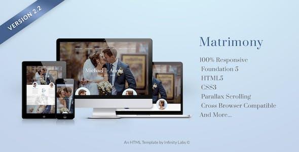 Matrimonial Website Templates from ThemeForest