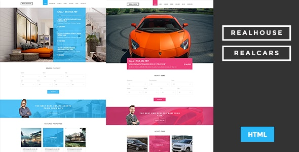 Realhouse & Realcars - Multipages HTML Template - Business Corporate
