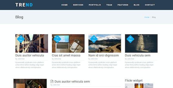 TREND – Multi-Purpose HTML Template