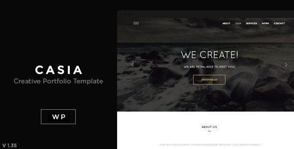 Casia - Minimal Clean Wordpress Theme - Creative WordPress
