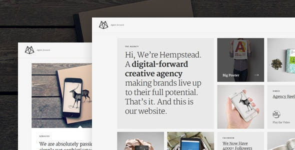 Hempstead – Responsive Drupal Portfolio Template  - Portfolio Creative