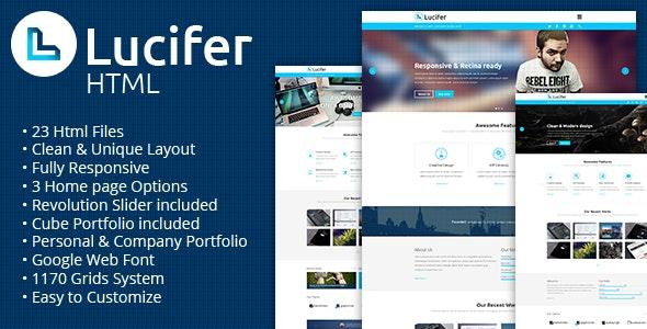 Lucifer - Multipurpose HTML Theme - Portfolio Creative