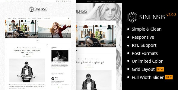 Sinensis | Simple and Readable Blog Theme - Personal Blog / Magazine