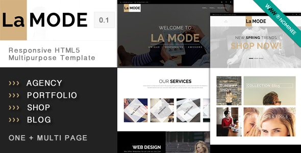 La Mode - Responsive HTML5 Multipurpose Template - Business Corporate
