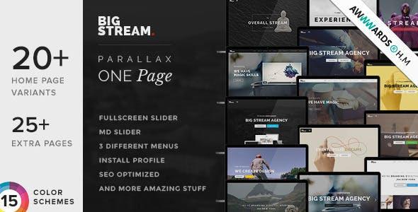 BigStream - One Page Multi-Purpose Drupal Theme