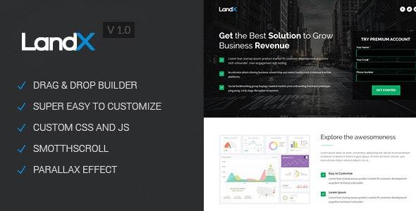 LandX - Multipurpose Unbounce Landing Page - Unbounce Landing Pages Marketing