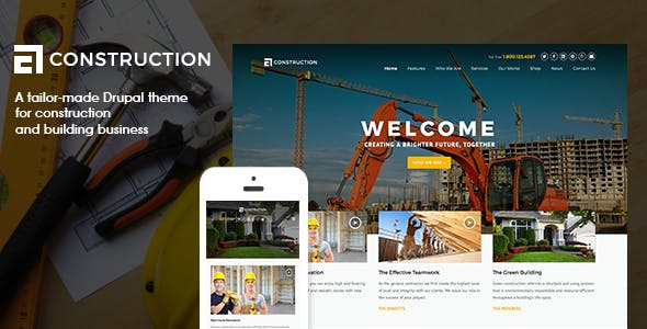Construction - Drupal 7 Template