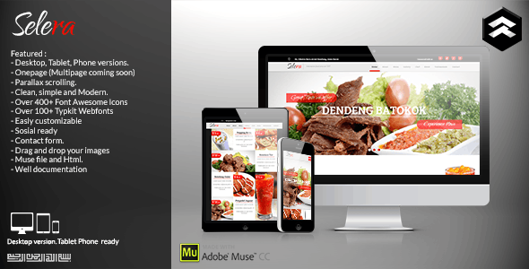 Selera - Restaurant, Cafe & Bar Muse Template - Creative Muse Templates