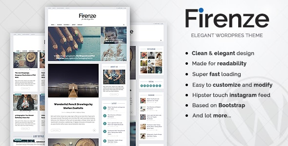 Firenze - Clean & Elegant Blog Theme - Blog / Magazine WordPress