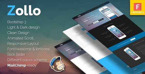 Zollo Bootstrap Multipurpose Landing Page for Apps - Apps Technology