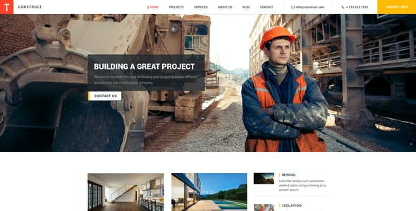 Construct:Building and Construction HTML Template