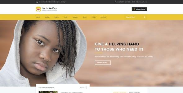 Social Welfare - Charity & Non-Profit PSD Template