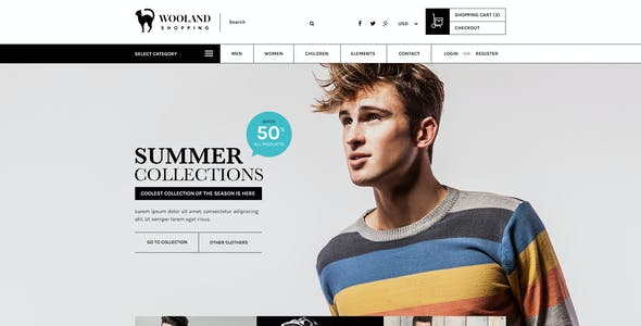 Wooland - eCommerce Shopping PSD Template
