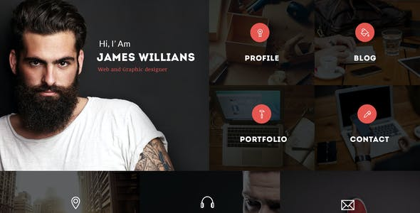 Mr.Resume - One Page Resume/Personal PSD Template