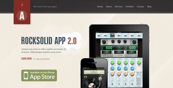 Rocksolid - App Showcase Agency - Creative Photoshop