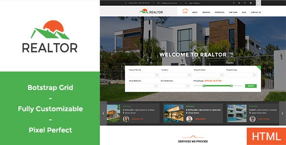Realtor - Real Estate HTML Template - Business Corporate