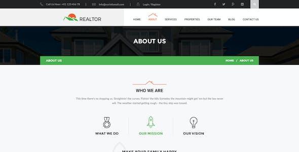 Realtor - Real Estate HTML Template