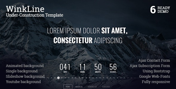 WinkLine Under-Construction Template - Under Construction Specialty Pages