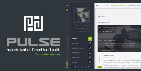 PULSE - Personal / Academic Vcard Template