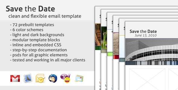 Save the Date Email Template - Newsletters Email Templates