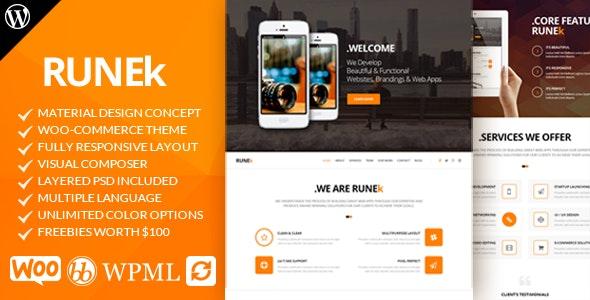 Runek - Material Design WordPress Theme - WooCommerce eCommerce