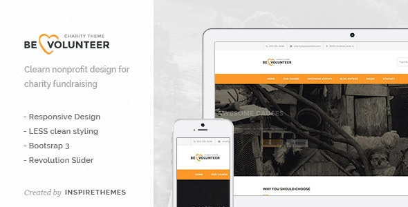 BeVolunteer - Nonprofit Charity Responsive Template - Charity Nonprofit