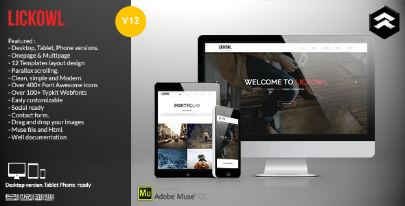 Lickowl Muse Templates  - Corporate Muse Templates