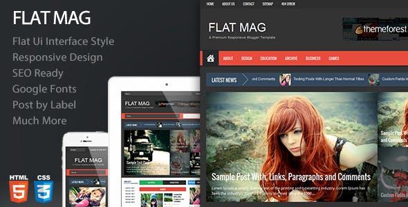 Flat Mag - Responsive Magazine Blogger Template