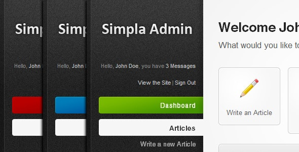 Simpla Admin - Flexible & User Friendly Admin skin - Admin Templates Site Templates