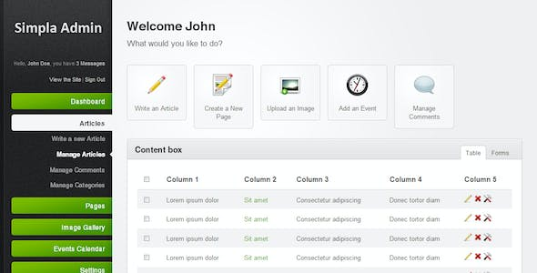 JQuery HTML Admin Website Templates from ThemeForest