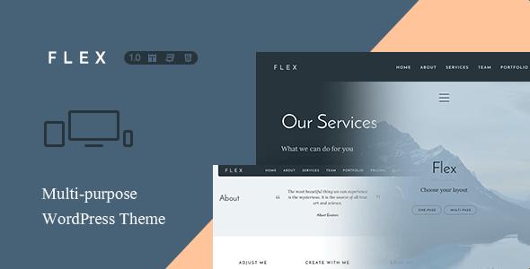 Flex - Multi-Purpose One + Multi Page Theme - Creative WordPress